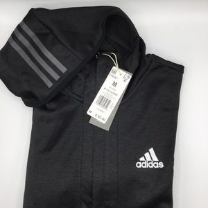 Adidas Black Front Zip-Up Hoodie M